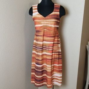 Prana Print Sleeveless Dress Medium
